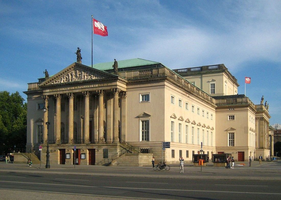 The State Opera House Unter den Linden in Berlin-Mitte before the renovation.