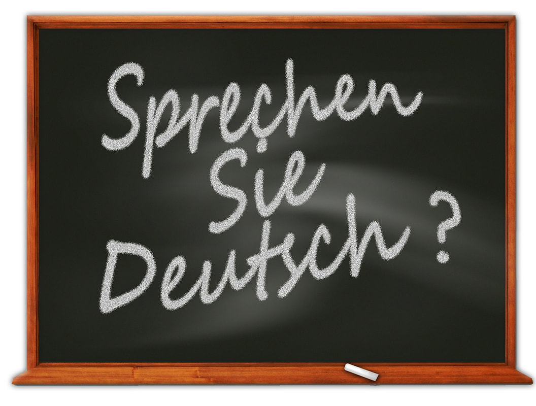 Chalk board with the German sentence Sprechen Sie Deutsch?
