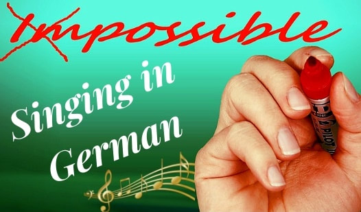 Image: Singing in German is possible.